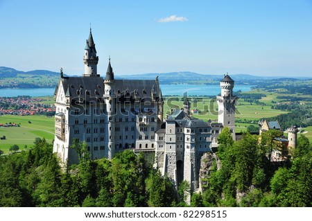 The famous new swan castle in German - stock photo