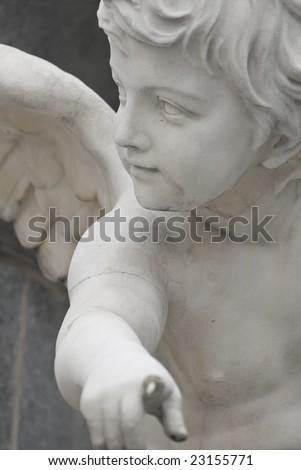 the famous sculptures around the austrian parliament dedicated to the greek goddess pallas athena - stock photo