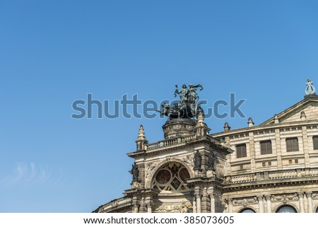 The famous Semper Opera in Dresden, Germany