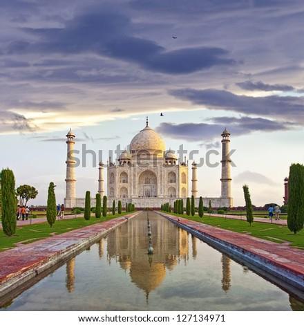 The famous Taj Mahal of india - stock photo
