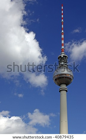 The famous television tower in Berlin, Germany - stock photo