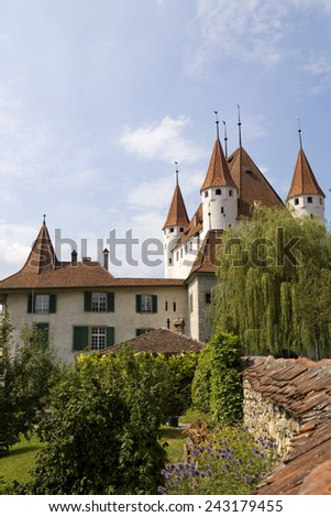 The famous Thun castle in Switzerland - stock photo