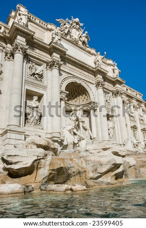 The Famous Trevi Fountain, rome, Italy.