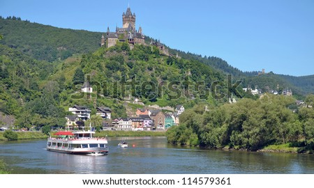 the famous Village of Cochem,Mosel River,Germany - stock photo