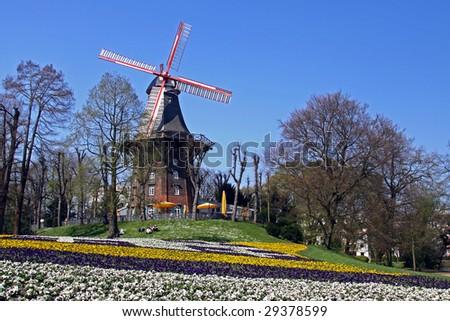 """The famous """"Wallanlagen"""", a park in Bremen (Germany) - stock photo"""