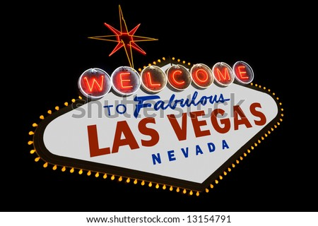 The famous Welcome to Fabulous Las Vegas sign along Las Vegas Boulevard in Nevada - stock photo