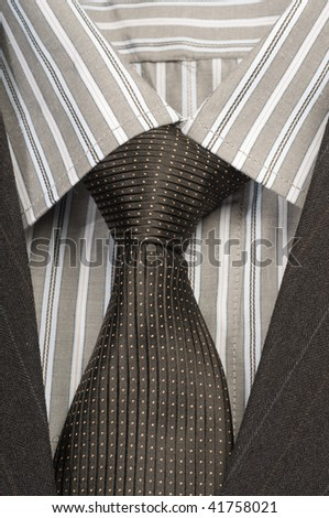 The fashionable men's wear is sold in shop. - stock photo