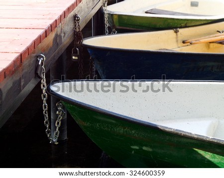 The fastened boats