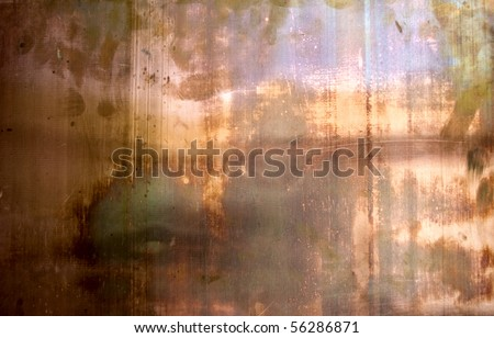 The fhoto of the texture of rusty cupper - stock photo
