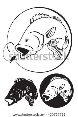 the figure shows fish bass - stock photo