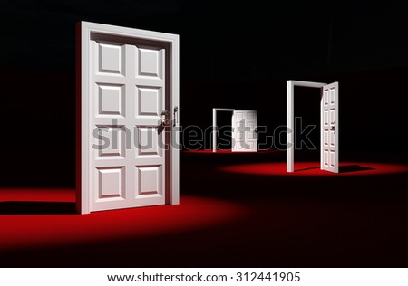 The final goal off a 3d rendering. - stock photo