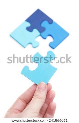 The final piece - stock photo