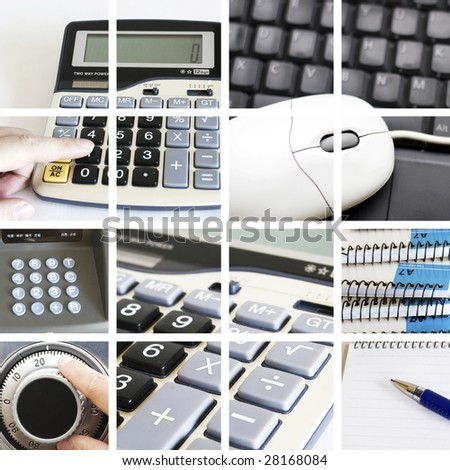 the finance concept with the scene at bank. - stock photo