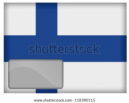 The Finnish flag painted on postal envelope - stock photo