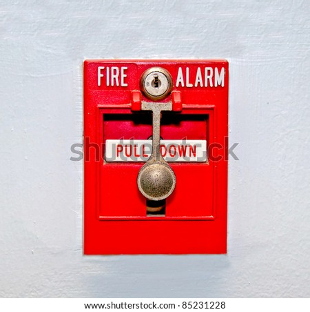 The Fire alarm embedded in the wall background