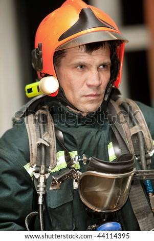 The fireman in regimentals - stock photo