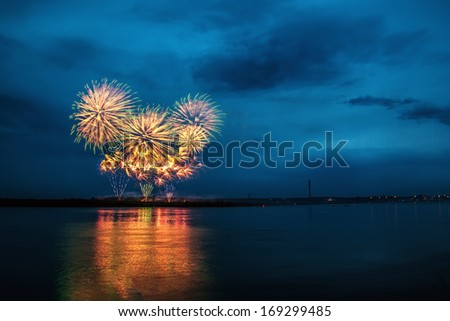 The firework - stock photo