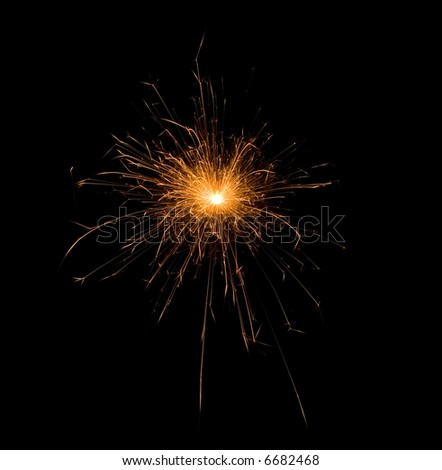 The fireworks - stock photo
