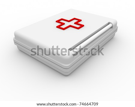 The first-aid set 3D. isolated - stock photo