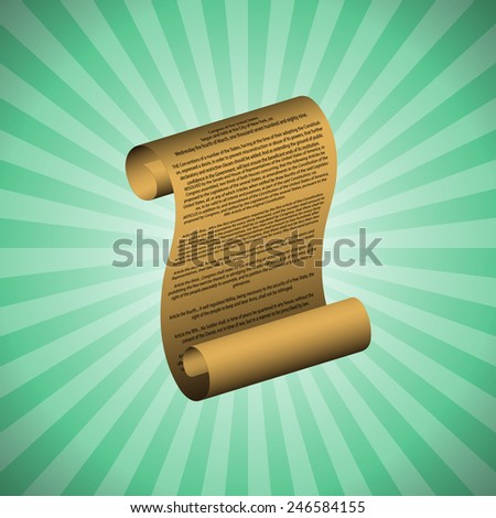 The first amendment on green background (with readable text) - stock photo