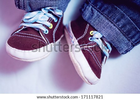 The first shoes - stock photo
