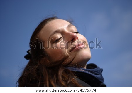the first spring breath - stock photo