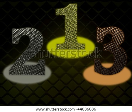 the first three places - stock photo