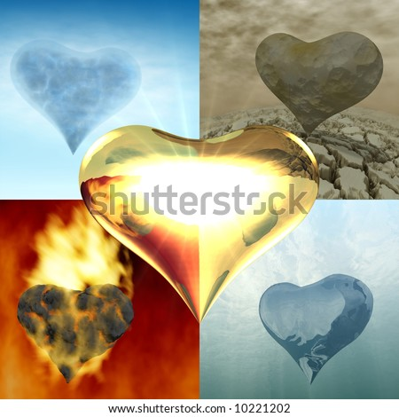 The five elements of life - stock photo