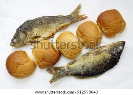 Two fish stock images royalty free images vectors for Five loaves two fish