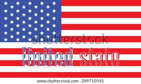 The flag and text usa