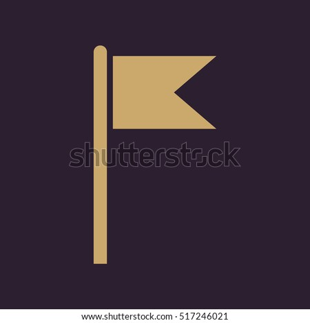 The flag icon. Mark and navigation symbol. Flat  illustration