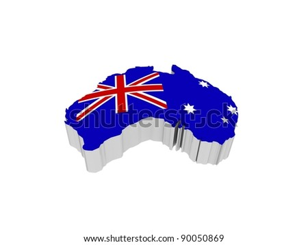 The flag of Australia, 3D - stock photo