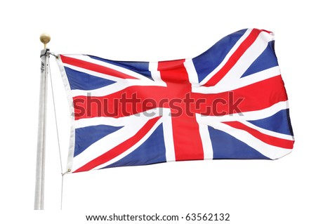 The Flag of Great Britain Isolated on White - stock photo
