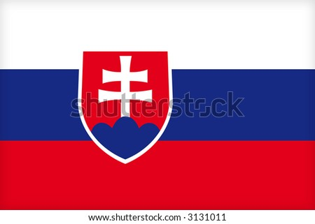 The flag of Slovakia. (Original and official proportions). - stock photo