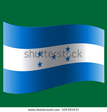The flag of the country. - stock photo