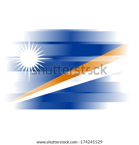 The flag of the Marshall Islands on white background