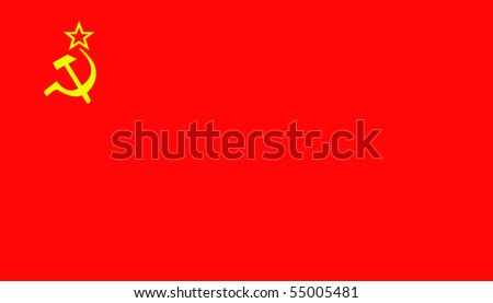 The flag of the Soviet union - stock photo
