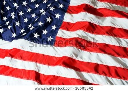 The flag of the Unite States of America - stock photo