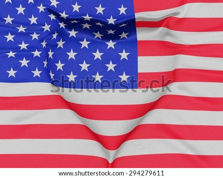 The Flag Of The United States Forming A Heart