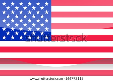 The flag of United States of America in the form of a glossy icon - stock photo