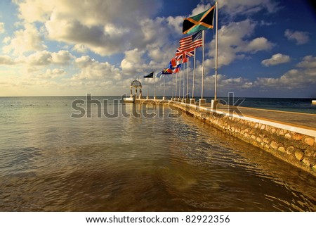 the flags - stock photo