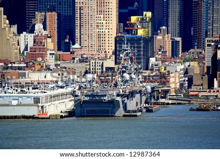 The Fleet Week New York 2008 at Mid-town Manhattan - stock photo