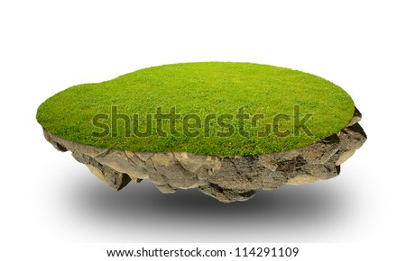 The floating island - stock photo