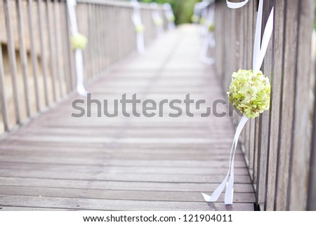 the flower at the wedding ceremony - stock photo