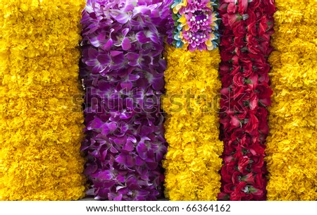 The flower offering. - stock photo