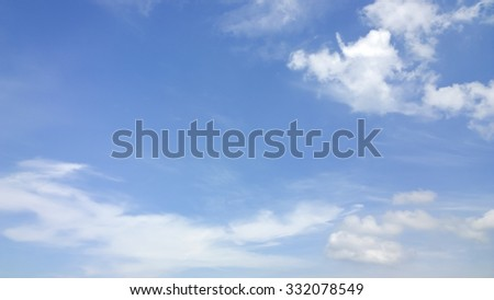 The fluffy cloud - stock photo