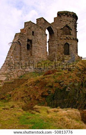 The folly at Mow Cop, Staffordshire, UK - stock photo