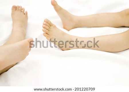 The foot of a girl