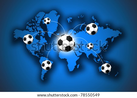 The football game that are in the world - stock photo