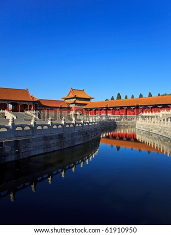 The Forbidden City. Beijing, China. Copy space available - stock photo